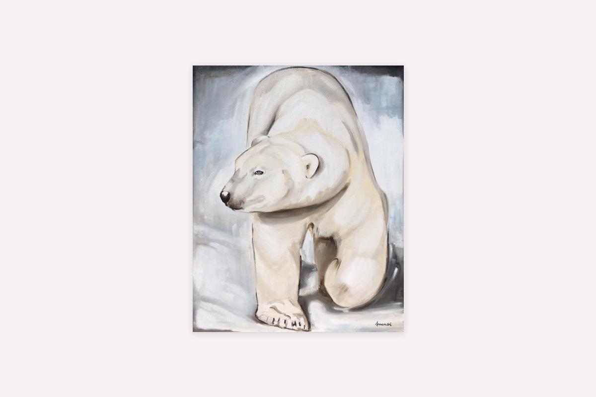 Virginie Assandri, toiles originales et reprographies d'ours, d'animaux de froid et de montagne.